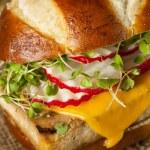 Homemade Vegetarian Soy Tofu Burger — Stock Photo #56361547