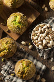 Homemade Green Pistachio Muffins — Stock Photo