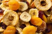 Organic Healthy Assorted Dried Fruit — Stock Photo