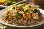 Homemade Tofu Stir Fry — Stock Photo