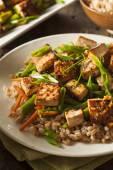 Homemade Tofu Stir Fry — Stock Photo