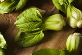 Raw Organic Baby Bok Choy — Stock Photo
