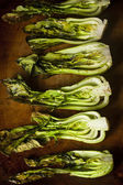 Baked Organic Baby Bok Choy — Stock Photo