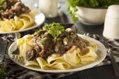 Homemade Hearty Beef Stroganoff — Stock Photo
