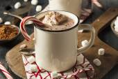 Homemade Peppermint Hot Chocolate — Stock Photo