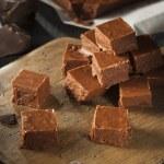 Homemade Dark Chocolate Fudge — Stock Photo #58120005