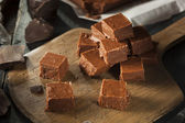 Homemade Dark Chocolate Fudge — Stock Photo