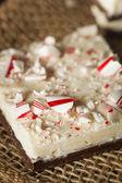 Homemade Holiday Peppermint Bark — Stock Photo