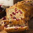 Homemade Festive Cranberry Bread — Stock Photo #58385717