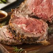 Homemade Grass Fed Prime Rib Roast — Stock Photo #58386247
