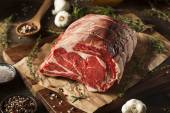 Raw Grass Fed Prime Rib Meat — Stock Photo