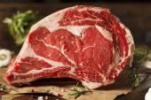Raw Grass Fed Prime Rib Meat — Stock Photo