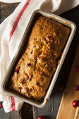 Homemade Festive Cranberry Bread — Stockfoto