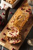 Homemade Festive Cranberry Bread — Stock fotografie