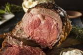 Homemade Grass Fed Prime Rib Roast — Stock Photo