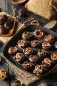 Hot Brown Roasted Chestnuts — Stock Photo