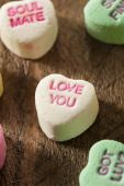 Colorful Candy Conversation Hearts — Stock Photo
