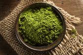 Raw Organic Green Matcha Tea — Stock Photo