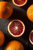 Organic Raw Red Blood Oranges — Stock Photo