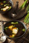 Hot Homemade Miso Soup — Stock Photo