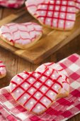 Homemade Pink Valentine's Day Cookies — Stock Photo