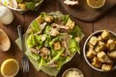 Healthy Grilled Chicken Caesar Salad — Stock Photo