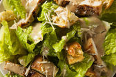 Healthy Grilled Chicken Caesar Salad — Stock Photo