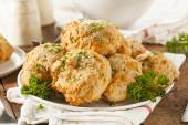 Homemade Cheddar Cheese Biscuits — Fotografia Stock