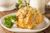 Homemade Cheddar Cheese Biscuits — Stock Photo