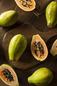 Raw Organic Green Papaya — Stock Photo