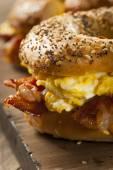 Hearty Breakfast Sandwich on a Bagel — Stock Photo