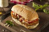 Hearty Homemade Chicken Parmesan Sandwich — Stock Photo