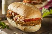Hearty Homemade Chicken Parmesan Sandwich — Stock Photo