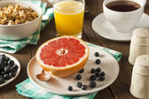 Healthy Organic Grapefruit for Breakfast — Stock Photo