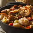 Spicy Homemade Cajun Jambalaya — Stock Photo #64397831