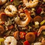 Spicy Homemade Cajun Jambalaya — Stock Photo #64397893