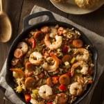 Spicy Homemade Cajun Jambalaya — Stock Photo #64397937