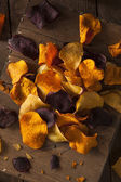 Healthy Homemade Vegetable Chips — Stockfoto