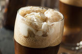Frozen Dark Stout Beer Float — Stock Photo