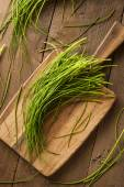 Raw Organic Green Chives — Stock Photo