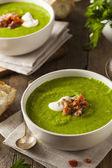 Homemade Green Spring Pea Soup — Stock Photo