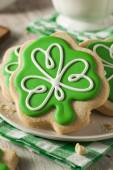 Grünen Klee St. Patricks Day-Cookies — Stockfoto