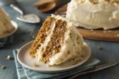 Healthy Homemade Carrot Cake — Stock Photo