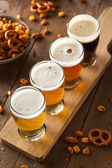 Assorted Beers in a Flight — Stock Photo