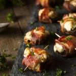 Homemade Bacon Wrapped Mushrooms — Stock Photo #67904967
