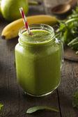 Healthy Organic Green Fruit Smoothie — Stock Photo
