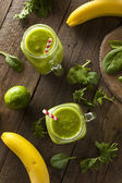 Healthy Organic Green Fruit Smoothie — Stock Photo
