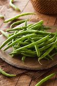 Raw Organic Green Beans — Stock Photo