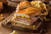 Homemade Traditional Cuban Sandwiches — Stock Photo