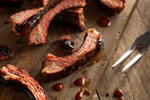 Homemade Smoked Barbecue Pork Ribs — Stock Photo